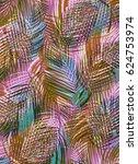 tropical leaves   Shutterstock . vector #624753974