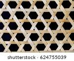 Bamboo Weave Closeup On Black...