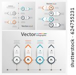 set of colorful infographic can ... | Shutterstock .eps vector #624755231