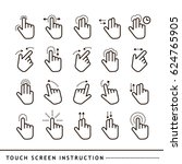 touch screen instruktion | Shutterstock .eps vector #624765905