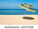 Beach Umbrella On A Sunny Day ...