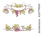 frame from grapes   vector...