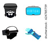 set of different virtual... | Shutterstock .eps vector #624785759