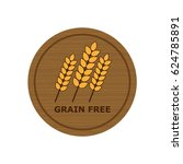 wooden badge icon with grain... | Shutterstock .eps vector #624785891