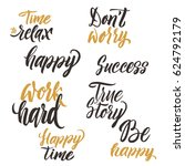 conceptual handwritten set of... | Shutterstock .eps vector #624792179