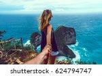 couple follow me in island ... | Shutterstock . vector #624794747