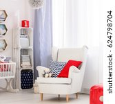 white comfy armchair for future ... | Shutterstock . vector #624798704