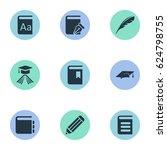 vector illustration set of... | Shutterstock .eps vector #624798755