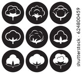 cotton icons set. white on a... | Shutterstock .eps vector #624800459