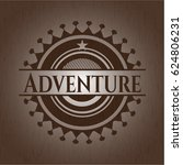 adventure badge with wood... | Shutterstock .eps vector #624806231
