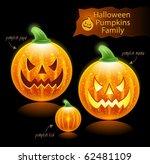 vector halloween pumpkins family