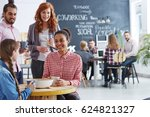 young and creative business... | Shutterstock . vector #624821327