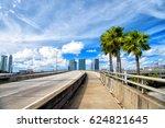 miami highway or public road... | Shutterstock . vector #624821645