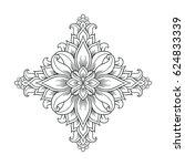 ornamental floral element for... | Shutterstock .eps vector #624833339