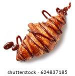 freshly baked croissant... | Shutterstock . vector #624837185