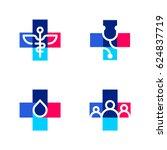 medical or pharmacy logo... | Shutterstock .eps vector #624837719