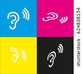 human anatomy. ear sign with... | Shutterstock .eps vector #624838154