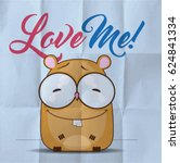 eps10 vintage card with cartoon ... | Shutterstock .eps vector #624841334