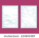 pastel blue covers with white... | Shutterstock .eps vector #624843389