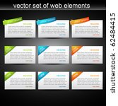 vector set of web elements to...