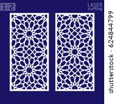laser cut vector panel. die... | Shutterstock .eps vector #624844799