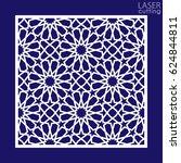laser cut vector panel. die... | Shutterstock .eps vector #624844811