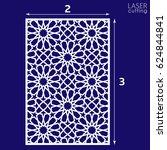 laser cut vector panel. die... | Shutterstock .eps vector #624844841