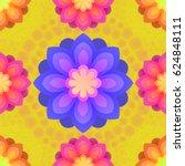 seamless pattern with mandalas... | Shutterstock .eps vector #624848111