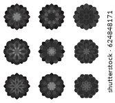 set of black flowers | Shutterstock .eps vector #624848171