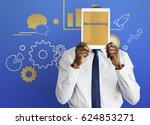 business strategy management... | Shutterstock . vector #624853271