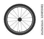 bicycle wheel black symbol... | Shutterstock .eps vector #624853481