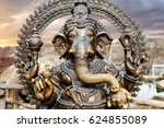 statue of hindu elephant god... | Shutterstock . vector #624855089