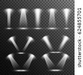 set of spotlight rays  on... | Shutterstock .eps vector #624855701