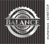 balance silvery badge | Shutterstock .eps vector #624857219