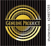genuine product shiny emblem | Shutterstock .eps vector #624857255