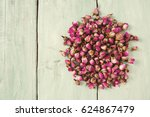 Dried Rose Buds On Turquoise...