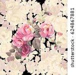 beautiful branch of blooming...   Shutterstock . vector #624867881