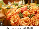 Bunch Of Fresh Orange Roses In...