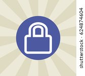 lock icon. sign design....