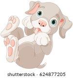 illustration of playing cartoon ... | Shutterstock .eps vector #624877205