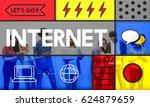internet network web technology ... | Shutterstock . vector #624879659