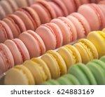 french macaron dessert food. | Shutterstock . vector #624883169