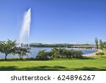 In Canberra, the Captain James Cook Memorial on the shore of Lake Burley Griffin comprises the water jet in the lake and the nearby terrestrial globe.