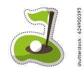 flag golf hole icon | Shutterstock .eps vector #624900395