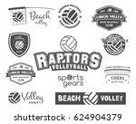 volleyball labels  badges  logo ... | Shutterstock . vector #624904379