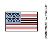 united states of america flag | Shutterstock .eps vector #624908939