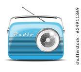 vintage radio. vector... | Shutterstock .eps vector #624911369