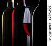 Bottles Of Wine On Black...