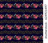 seamless folk pattern in small... | Shutterstock .eps vector #624921497