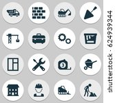 construction icons set.... | Shutterstock .eps vector #624939344